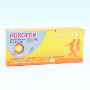 PhamilyPharma Webshop Nurofen Kind 200 mg - 24 tabletten