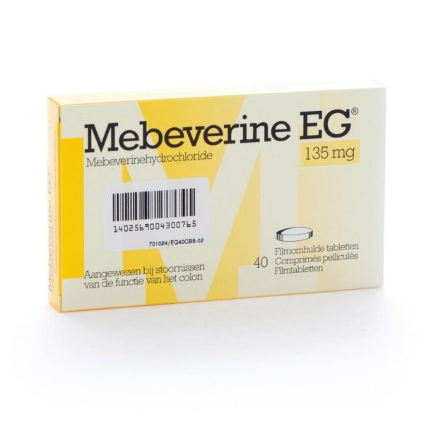 PhamilyPharma Webshop Mebeverine EG 135 mg 40 tabletten